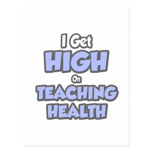 Consigo alto en salud de enseñanza postal