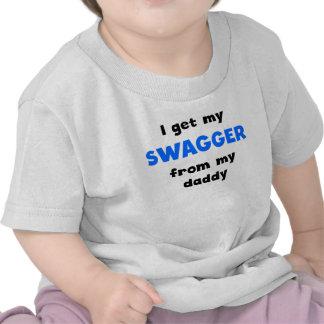 Consigo mi fanfarronería de mi papá camiseta