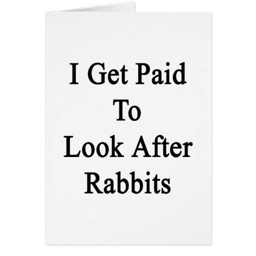 Consigo pagado ocuparme conejos tarjetón