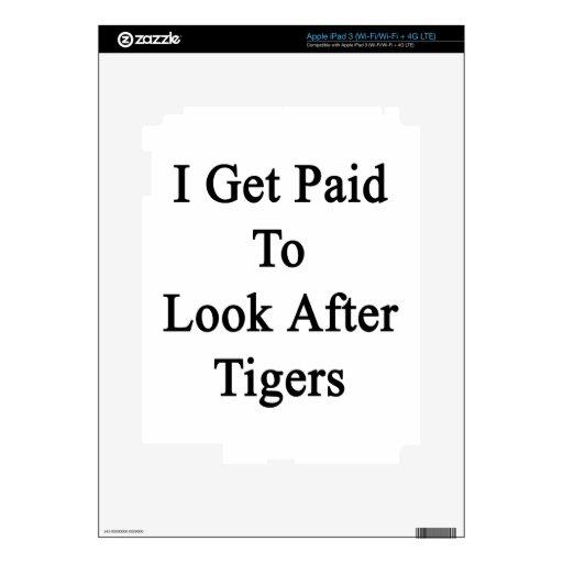 Consigo pagado ocuparme tigres iPad 3 skins
