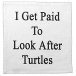 Consigo pagado ocuparme tortugas servilletas de papel
