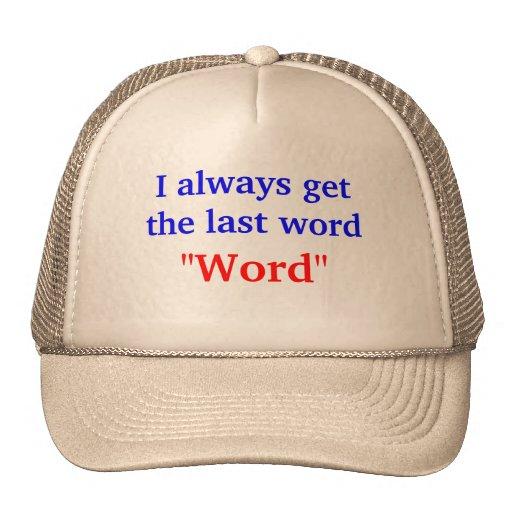 Consigo siempre la palabra pasada gorros bordados