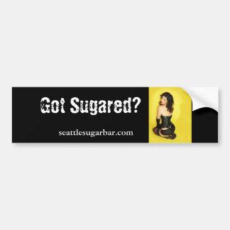 ¿Consiguieron azucarado? , seattlesugarbar.com Pegatina Para Auto