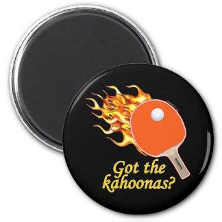 Consiguió a Kahoonas ping-pong llameante Imán Redondo 5 Cm