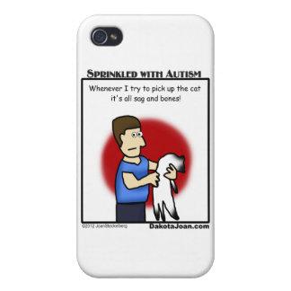 ¿consiguió a un amigo con autismo o un gato o ambo iPhone 4 carcasas
