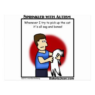 ¿consiguió a un amigo con autismo o un gato o ambo postales
