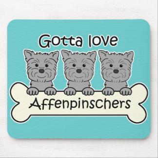 Consiguió amar Affenpinschers Alfombrillas De Ratón