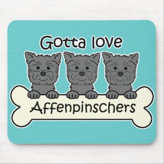 Consiguió amar Affenpinschers Mousepad