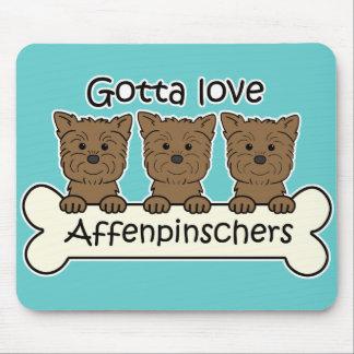 Consiguió amar Affenpinschers Tapete De Ratones