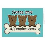 Consiguió amar Affenpinschers Tarjeton