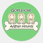 Consiguió amar afganos etiqueta redonda
