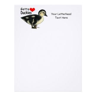 Consiguió amar Duckies Membretes Personalizados