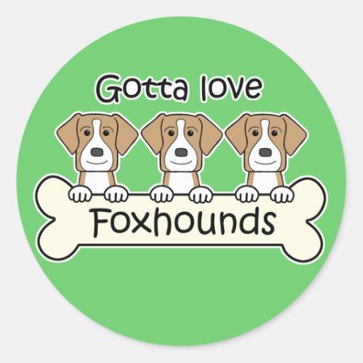 Consiguió amar raposeros pegatina redonda