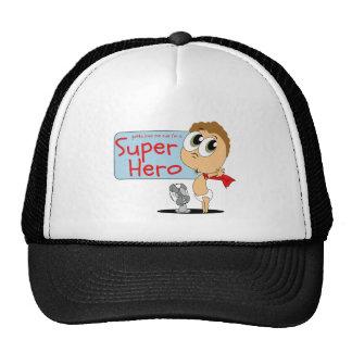 "Consiguió amarme cus que soy ""superhéroe "" gorras"