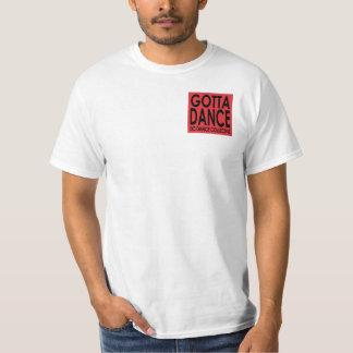 Consiguió bailar el pequeño logotipo camisas