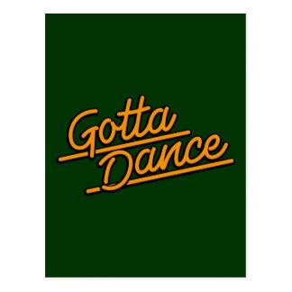 Consiguió bailar en naranja tarjetas postales