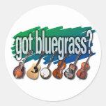 """¿""""Consiguió Bluegrass? """" Pegatina Redonda"""