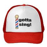 Consiguió cantar el regalo de la barbería gorras de camionero