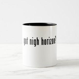 """¿""""Consiguió cerca horizonte? """"Taza del Dos-Tono Taza Dos Tonos"""