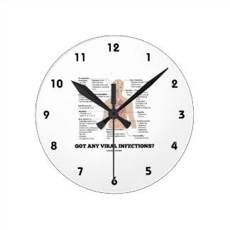 ¿Consiguió cualquier infección viral? Humor Reloj Redondo Mediano