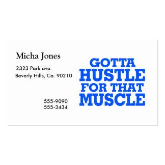 Consiguió darse prisa para ese azul del músculo tarjetas de visita