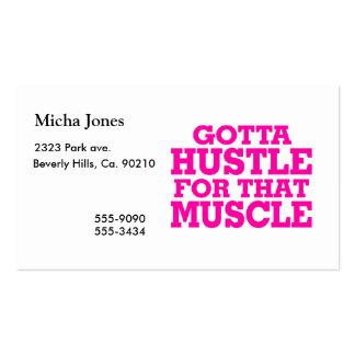 Consiguió darse prisa para ese rosa del músculo tarjetas de visita