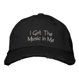 Consiguió la música en mí bordó la gorra de gorra de béisbol bordada