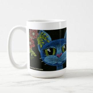 Consiguió los azules, taza de café del gatito de l