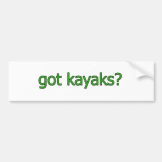 """""""consiguió los kajaks?"""" logotipo etiqueta de parachoque"""