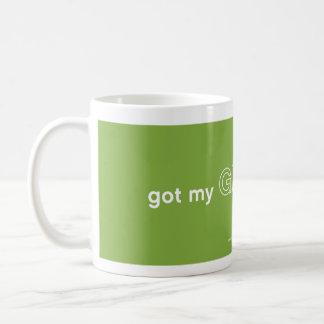 Consiguió mi verde encendido taza clásica