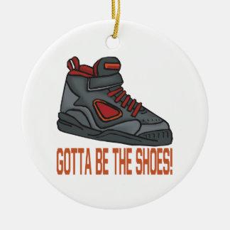 Consiguió ser los zapatos adorno navideño redondo de cerámica