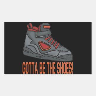 Consiguió ser los zapatos rectangular pegatina