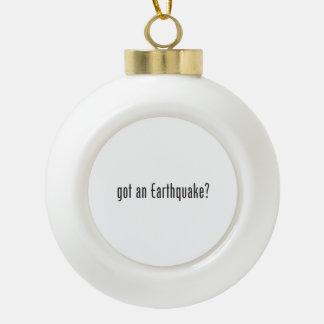 consiguió un earthquake.ai adorno de cerámica en forma de bola