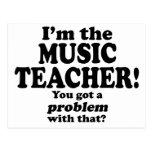 Consiguió un problema con ese, profesor de música tarjeta postal