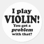 Consiguió un problema con ese, violín pegatina redonda