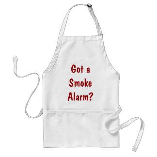 ¿Consiguió una alarma de humo? Delantal