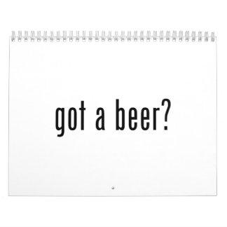 consiguió una cerveza calendario de pared
