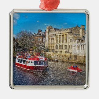 Consistorio de York con el barco de río Ornamentos De Navidad