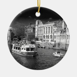 Consistorio de York con el barco de río Ornamento Para Reyes Magos