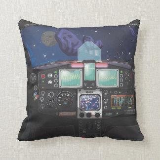 Consola de la nave espacial cojines