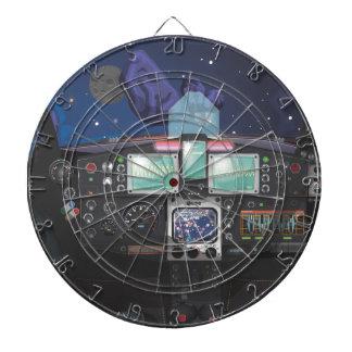 Consola de la nave espacial tablero dardos
