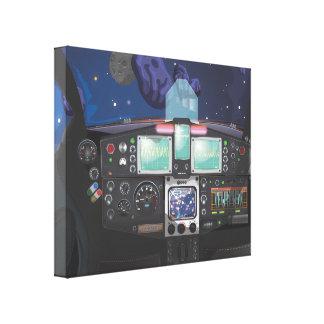 Consola de la nave espacial lona envuelta para galerias