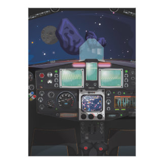 Consola de la nave espacial impresiones
