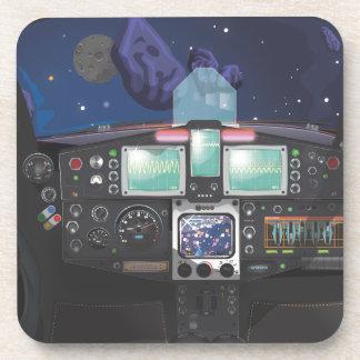 Consola de la nave espacial posavaso