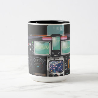 Consola de la nave espacial taza de café