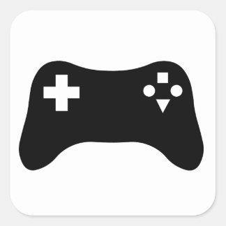 Consola del juego pegatina cuadrada