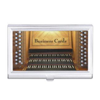 Consola del órgano cajas de tarjetas de negocios