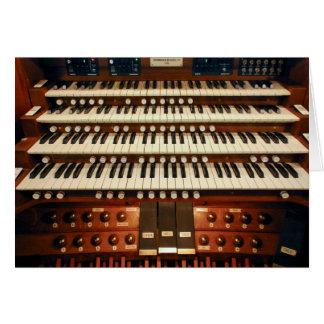 Consola del órgano de Nueva Zelanda Tarjeta De Felicitación