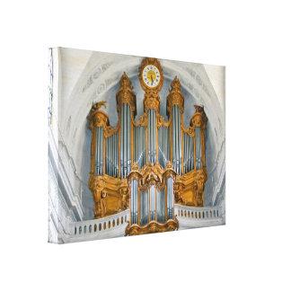 Consola del órgano impresión en lienzo estirada