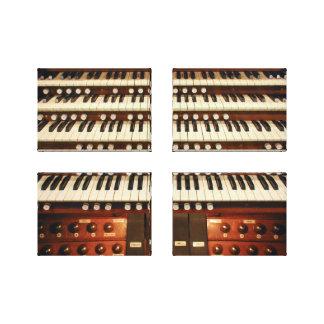 Consola del órgano impresiones en lienzo estiradas
